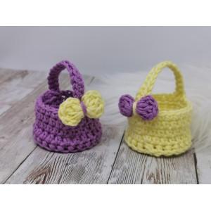 Košarica za pirh - vijolična ali rumena