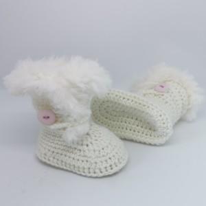 Otroški škorenjci - umazano beli (dekliški)