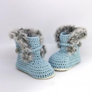 Otroški škorenjci - svetlo modri