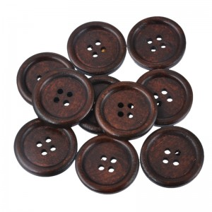 Okrogel leseni gumb - 20mm