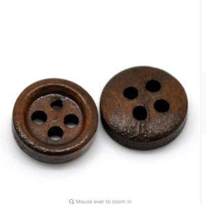 Okrogel leseni gumb - 11mm
