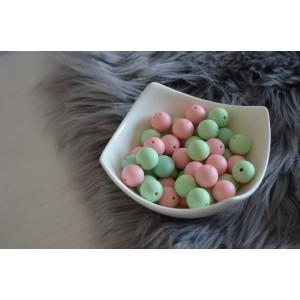 Silikonske kroglice - mint ali pink 15mm
