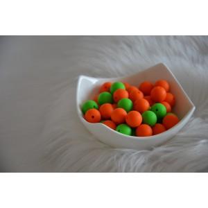 Silikonske kroglice - oranžne ali zelene 15mm