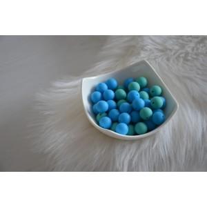 Silikonske kroglice - modre ali turkizne 15mm