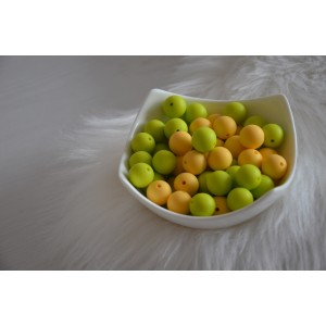 Silikonske kroglice - limeta ali rumena 15mm