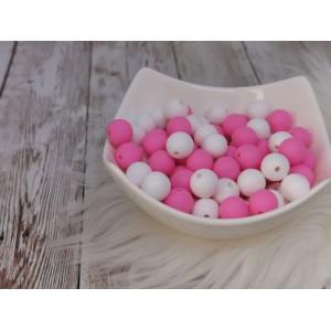 Silikonske kroglice - bele ali roza 12mm