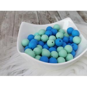 Silikonske kroglice - modre ali mint 12mm