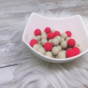 Silikonske kroglice - rdeče ali bež 12mm