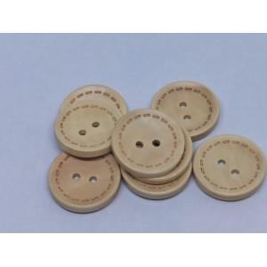 Okrogel leseni gumb - 25mm