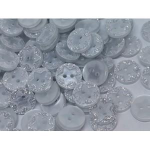 Okrogel gumb z zvezdico - 13mm