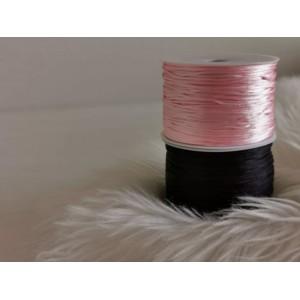 Najlonska vrvica - roza/črna