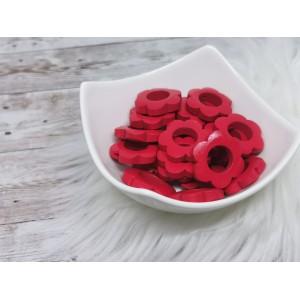 Lesene rožice - rdeča (2 kosa)