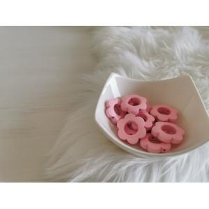Lesene rožice - roza (2 kosa)