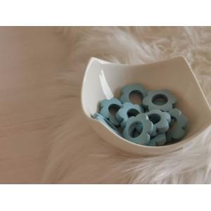 Lesene rožice - svetlo modre (2 kosa)