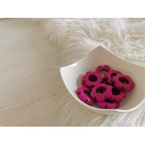 Lesene rožice - vijolična (2 kosa)