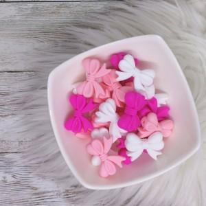 Silikonske pentlje - roza, bela, pink ( 2 kosa)