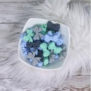 Silikonske pentlje - siva, modra, mint ( 2 kosa)