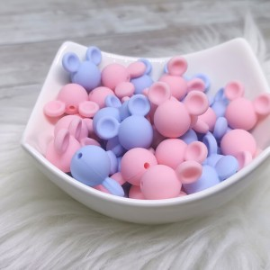 Silikonska kroglica - miška (2kosa)